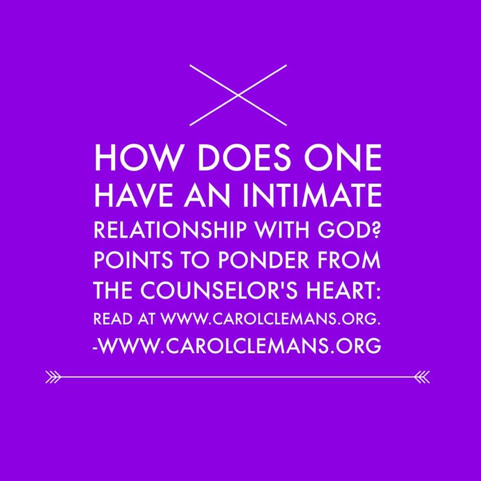 how do you develop a personal relationship with god